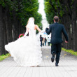 Just married couple — Stock Photo