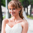 Smiling young bride — Stock Photo