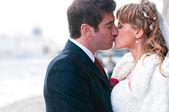 Sadece evli çift — Stok fotoğraf