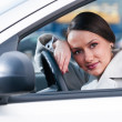 Woman in a car — Stock Photo #5310247