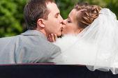 Wedding couple is kissing — Stock Photo