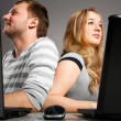 Couple with laptop — Stock Photo #5349789