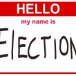 Hello my name is election — Stock Photo