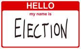 Witam nazywam się wybory — Zdjęcie stockowe