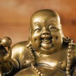 Figurine Cheerful Hotei — Stock Photo #5019882