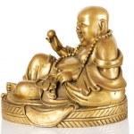 Ancient Figurine Cheerful Hotei. — Stock Photo #5319843