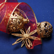 Christmas still life with decorations — 图库照片