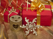 Natal natureza morta com decorações — Foto Stock