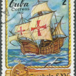 Stamp printed in  Cuba shows image ship — Stock Photo