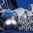 Christmas still life with decorations — Stock Photo