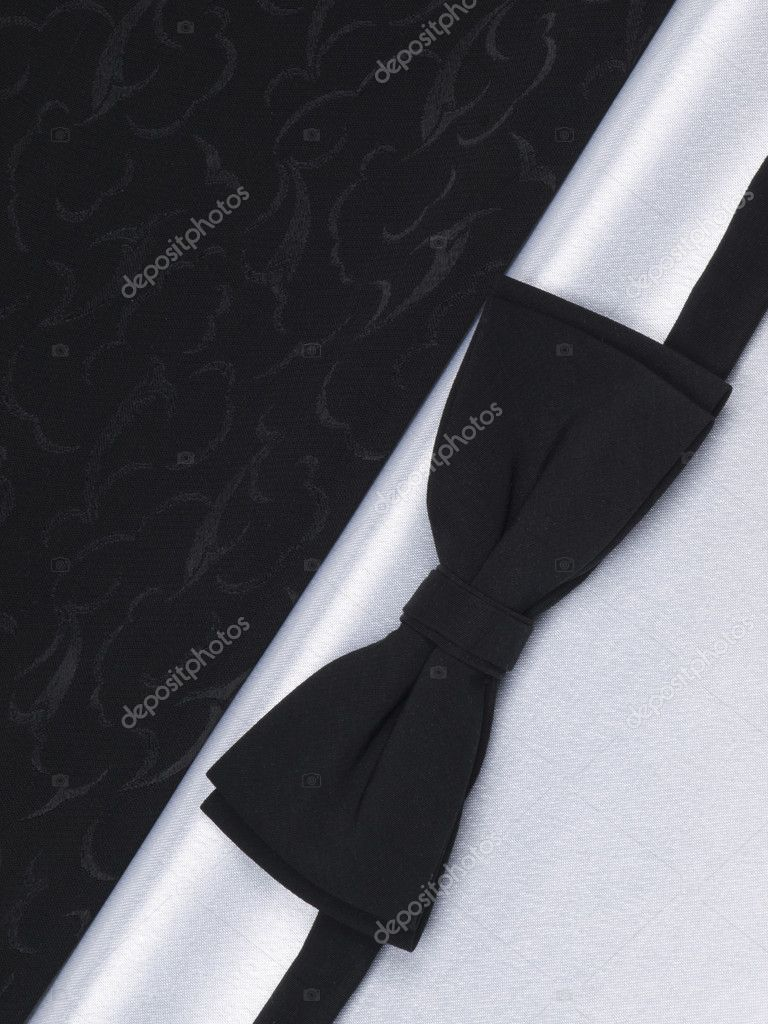 bow tie on a black and white silk stock photo 169 nolan777