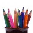 Stock Photo: Set from multicolored pencils.