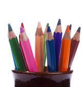 Set from multicolored pencils. — Stock Photo