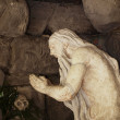 Stok fotoğraf: Old sculpture Jesus in cave