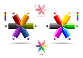 Sixend pencil — Stock Vector