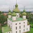 Ancient cathedral in Kargopol, north Russia - Stock Photo