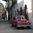 Picture of a old american car in Havana, Cuba - Stock Photo