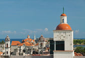 View of Havana historic center with lighthouse in El Morro Castl — Stock Photo