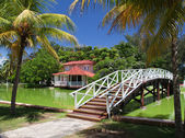 Foot-bridge in park Hesone, Varadero — Stock Photo