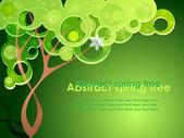 árbol de primavera abstracta — Vector de stock