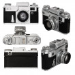 Old photo camera set — Stock Photo