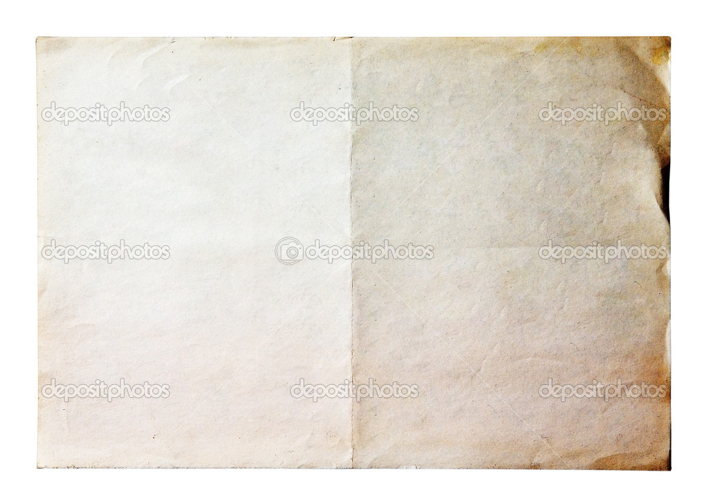 Old paper isolated on white background with clipping path — Stock Photo #4198406