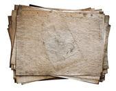 Stapelen van oude documenten — Stockfoto