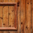 Frame on wooden wall - Stock Photo