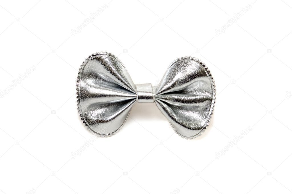 Silvery bow-butterfly isolated on a white background  Stock Photo #4213689