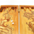 Board game a backgammon - Stock Photo