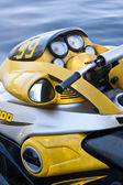 Yellow jet ski — Stock Photo