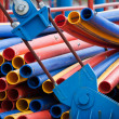 Royalty-Free Stock Photo: Colorful plastic pipes