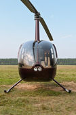Helicopter at airfield — Stock Photo
