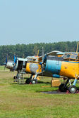 Planes at the airfield — Foto Stock
