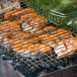Barbeque salmon — Foto de Stock