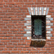 Bricks and window — 图库照片