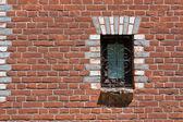 Bricks and window — Stock Photo