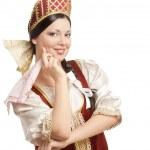 ロシアの伝統的な服装の女性 — ストック写真