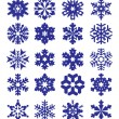 Snowflakes Collection — ストックベクタ