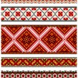 Ukrainian embroidery ornaments - Imagen vectorial