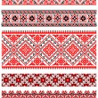 Stock Vector: Ukrainian embroidery ornaments