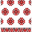 Ukrainian embroidery ornaments — Stock Vector