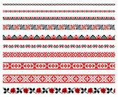 Oekraïense borduurwerk ornamenten — Stockvector