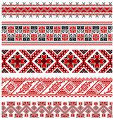 Ukrainian embroidery ornament — Stock Vector