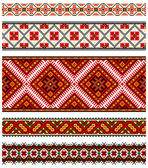Ornamenti di ricamo ucraino — Vettoriale Stock