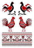 Ukrainian embroidery ornaments — Stock Vector