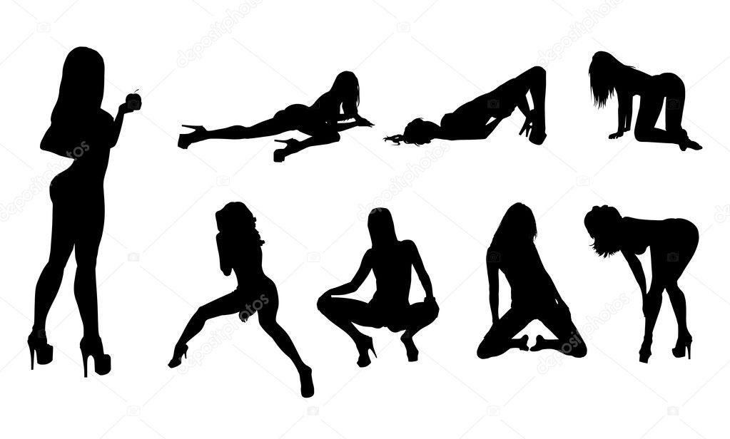 Retro nude women groups