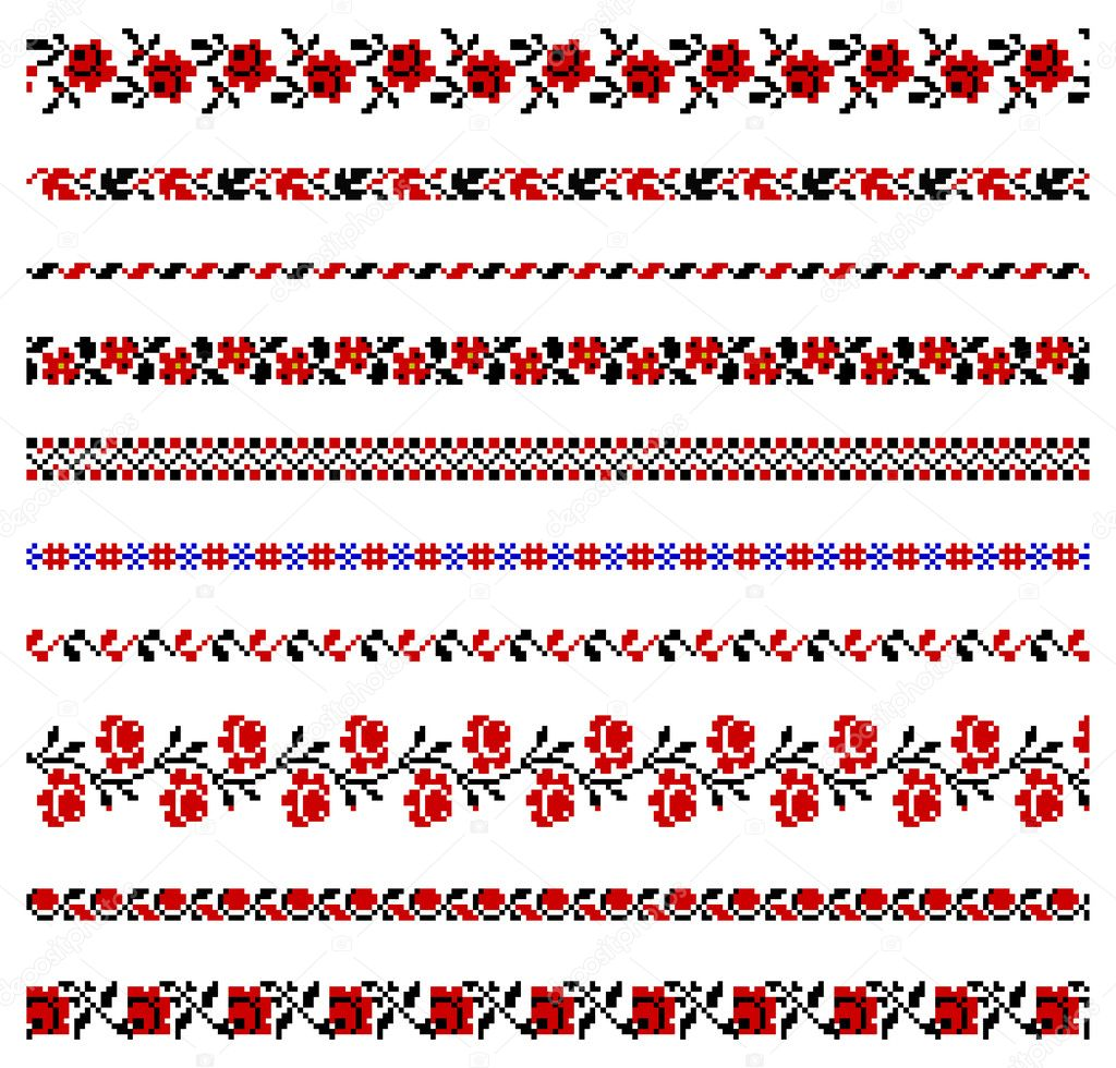 Ukrainian Embroidery Borders
