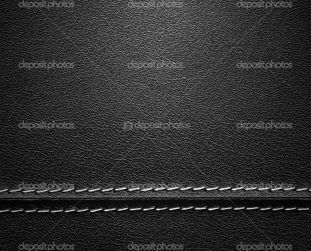Real close-up of black leather texture — Stock Photo #5025755