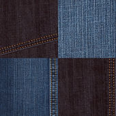 Denim texture set — Stock Photo